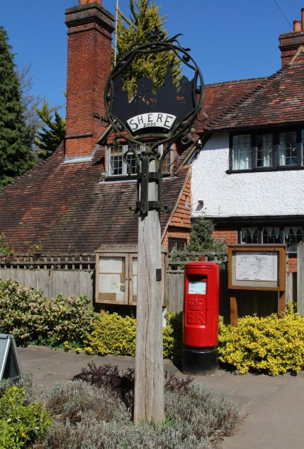 Village sign, Shere