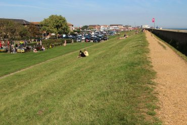 Path behind the sea wall, Canvey Island