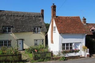 Thatched cottage and The Old Fire Station, Finchingfield