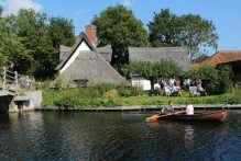 Boating on the River Stour, Flatford
