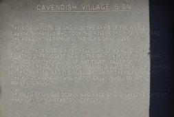 Information on village sign, Cavendish