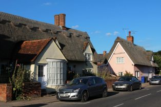 Thatched cottages, High Street, Cavendish