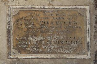Memorial to John and Anna Maria Thatcher, Thatcher Family Memorials, St. Mary's Church, Uffington