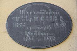 Memorial to Thomas Herbert and Kathleen Thatcher, Thatcher Family Memorials, St. Mary's Church, Uffington