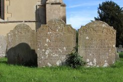 Thatcher family graves, St. Mary's Churchyard, Uffington