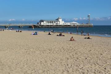 West Cliff Beach and Pier, Bournemouth