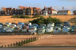 Beach huts and Tankerton Slopes, from The Street, Whitstable