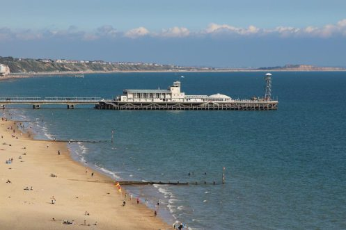 Bournemouth Pier, from West Overcliff Drive, Bournemouth