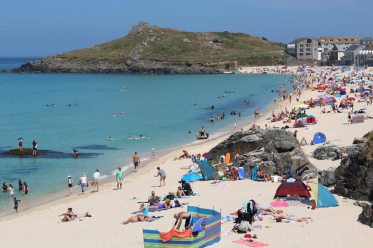 Porthmeor Beach and The Island, St. Ives