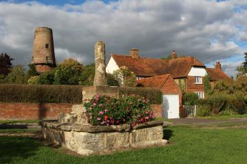Preaching Cross, Quainton Windmill and Windmill Cottage, Quainton