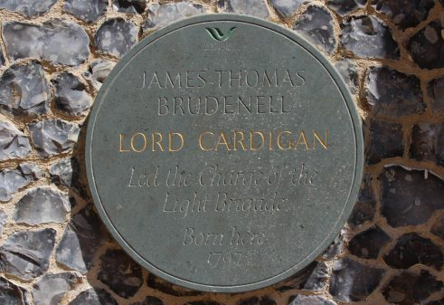 Lord Cardigan plaque, Manor House, Hambleden