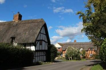Thatched cottages, St. Marys Road, Botolph Claydon