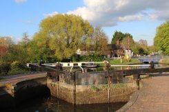 Aldermaston Lock, Kennet and Avon Canal, Aldermaston Wharf
