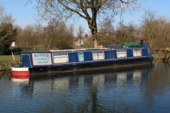 Narrowboat, Kennet and Avon Canal, near Newbury Lock
