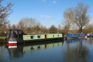Narrowboats, Kennet and Avon Canal, near Newbury Lock