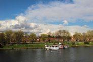 Barrack Block, Hampton Court Palace, from Hampton Court Bridge