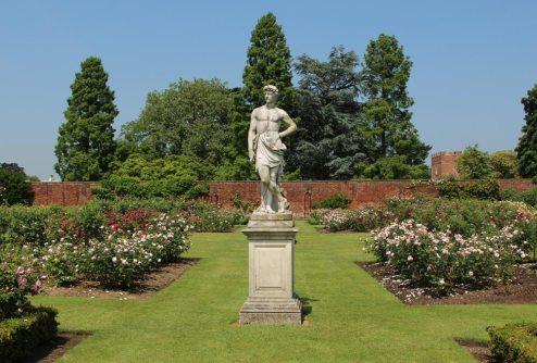 Statue of Adonis, Rose Garden, Tiltyard, Hampton Court Palace