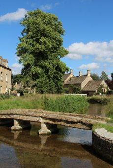 Stone bridge across River Eye, Lower Slaughter