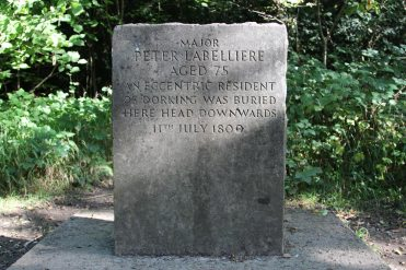 Grave of Peter Labelliere, eccentric resident of Dorking, Box Hill