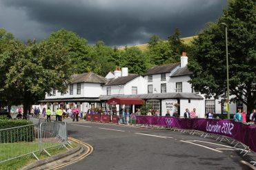 Mercure Burford Bridge Hotel, Box Hill. Women's Olympic Cycling Road Race 2012
