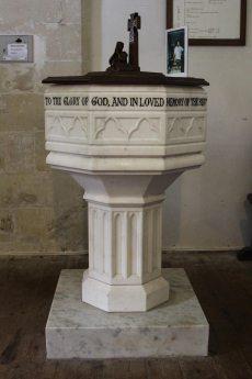 Font, St. Nicholas Church, Steventon