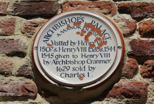 Plaque, Archbishop's Palace, Charing