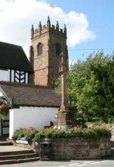 All Saints Church and the Cross, Claverley