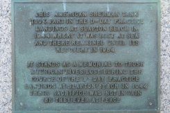 American Sherman Tank plaque, Torcross