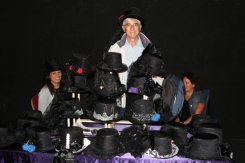 An old Goth, Gothic Hats stall, Bridport Hat Festival, 2012, Bridport