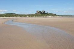 Bamburgh Castle, from Bamburgh Beach, Bamburgh
