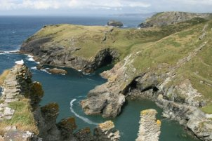 Barras Nose, from the summit of The Island, Tintagel Castle, Tintagel