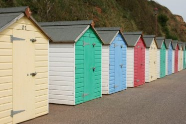 Beach huts, West Walk, Seaton