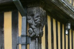 Carving on the exterior of the Gatehouse, Stokesay Castle