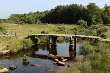 Clapper Bridge, over East Dart River, Postbridge, Dartmoor