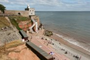 Clock Tower, Jacob's Ladder and Jacob's Ladder Beach, Sidmouth