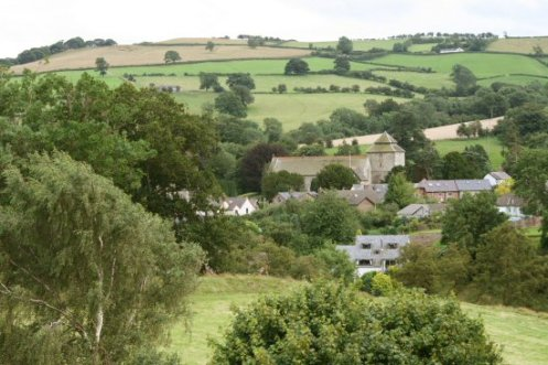 Clun, from Clun Castle