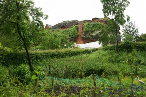 Cottage garden, Rock Houses, Holy Austin Rock, Kinver Edge