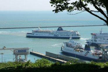 Cross Channel Ferries, Eastern Docks, Dover Harbour, Dover