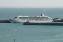 Cruise ship, Western Docks, Dover Harbour, Dover