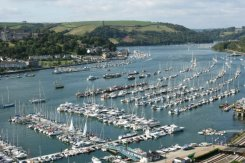 Dartmouth Harbour, River Dart, from Ridley Hill, Kingswear