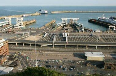 Eastern Docks, Dover Harbour, from Langdon Cliffs, Dover