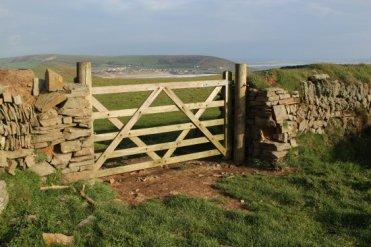 Farm gate, near Baggy Point