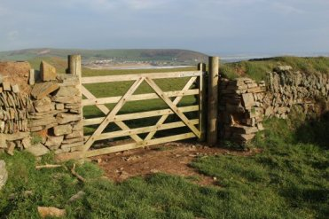 Farm gate, near Baggy Point