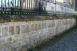 First World War, 1914-1918, Memorial, St. Mary's Church Wall, Beaminster