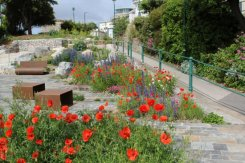 Gardens above Marine Lake, Weston-super-Mare