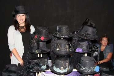 Gothic Hats stall, Bridport Hat Festival, 2012, Bridport