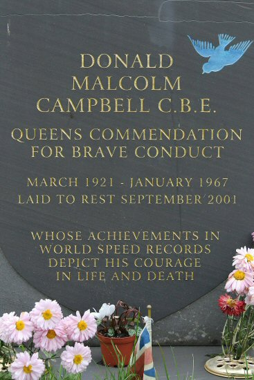 Grave of Donald Campbell, New Parish Cemetery, St. Andrew's Church, Coniston