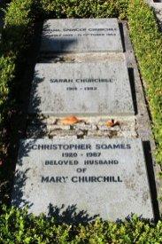 Graves of Diana and Sarah Churchill and Christopher Soames, St. Martin's Churchyard, Bladon