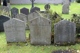 Graves of William Wordsworth's son William, sister Dorothy and brother John, St. Oswald's Churchyard, Grasmere
