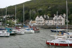 Harbour and The Anchor Hotel, Porlock Weir, Exmoor